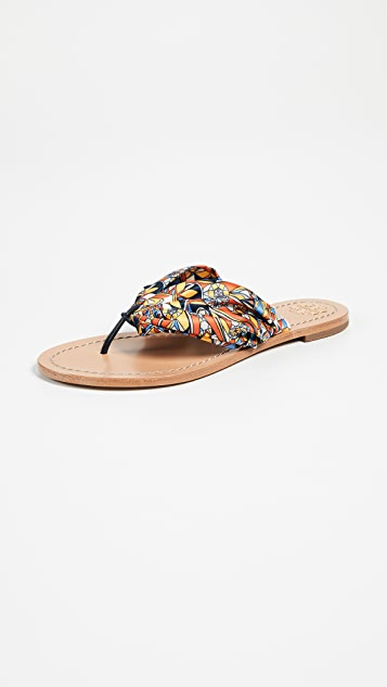 Tory Burch Carson Flat Thong Sandals ...