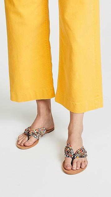 Tory Burch Carson Flat Thong Sandals