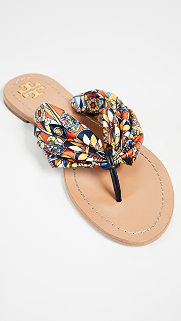 Tory Burch Carson Flat Thong Sandals