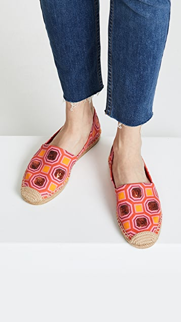 Tory Burch Cecily Embellished Espadrilles