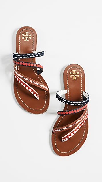 7c19a3f2846 ... Tory Burch Patos Embroidered Sandals ...