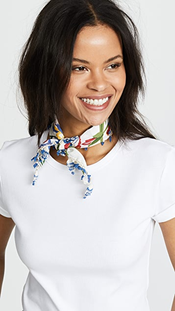 Tory Burch Iris Neckerchief with Fringe