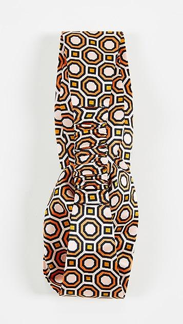Tory Burch Octagon Printed Silk Headband