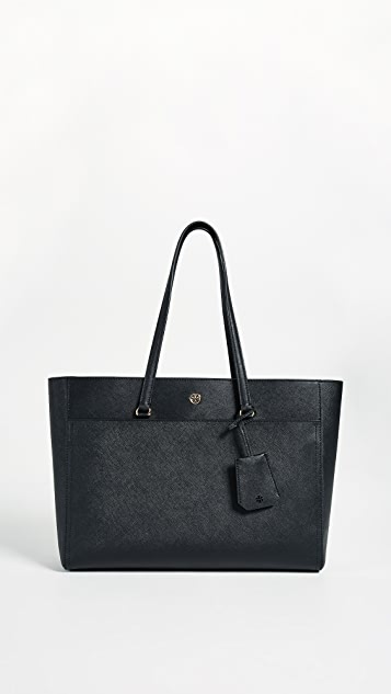 Tory Burch Robinson Tote - Black/Navy