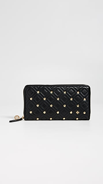 Tory Burch Fleming Stud Zip Continental Wallet