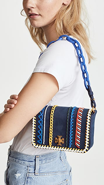 Tory Burch Kira Whipstitch Double Strap Mini Bag