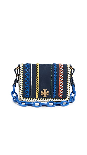 Tory Burch Kira Whipstitch Double Strap Mini Bag