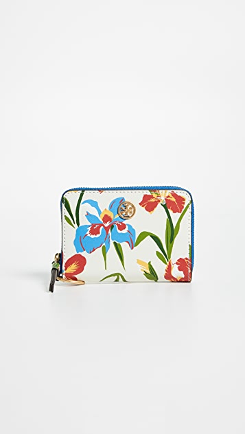Tory Burch Robinson Floral Coin Case