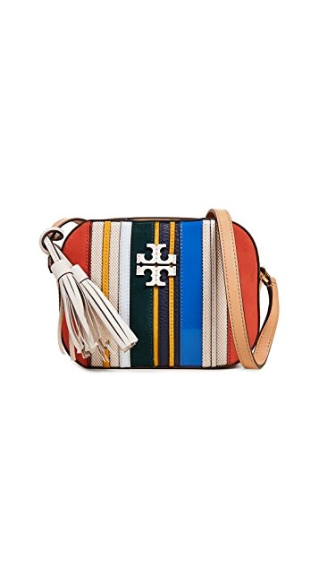 Tory Burch Mcgraw Stripe Camera Bag