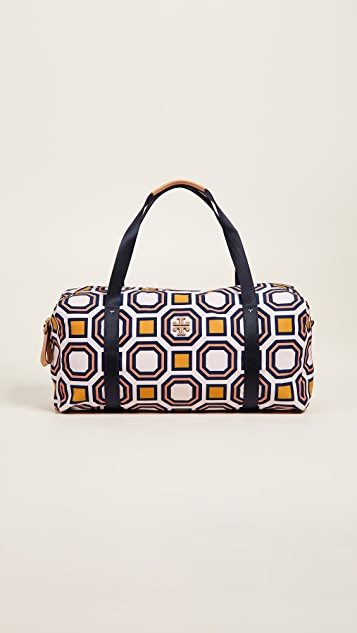 Tory Burch Printed Nylon Large Duffel Bag