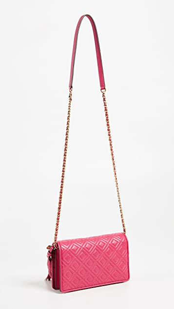 Tory Burch Fleming Flat Wallet on a Chain
