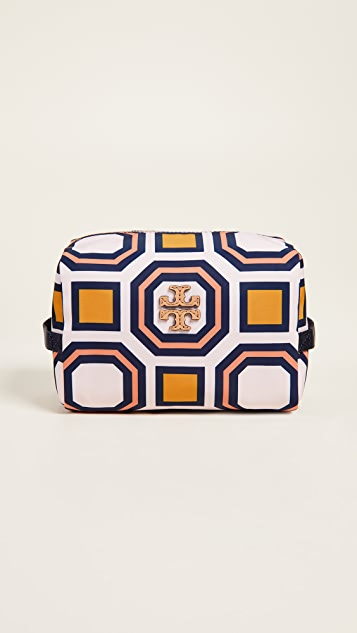 Printed Nylon Medium Cosmetic Case by Tory Burch