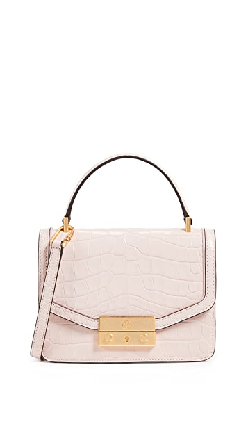 Tory Burch Juliette Embossed Mini Top Handle Satchel
