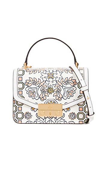 Tory Burch Juliette Printed Mini Top Handle Satchel