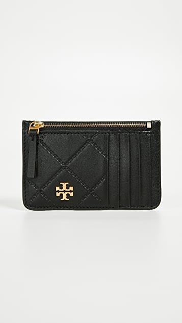 Tory Burch Georgia Zip Top Card Case