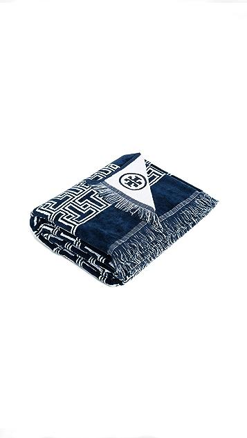 Tory Burch T Tile Beach Towel