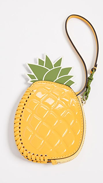 4d2d4410545 ... Tory Burch Pineapple Coin Pouch Key Fob ...