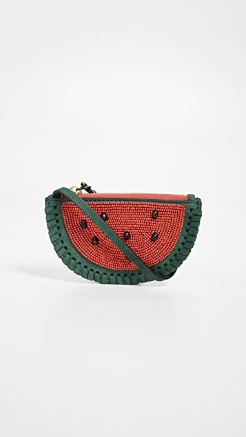 Tory Burch Watermelon Coin Pouch Key Fob