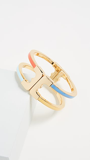 Tory Burch Gemini Link Enamel Bracelet