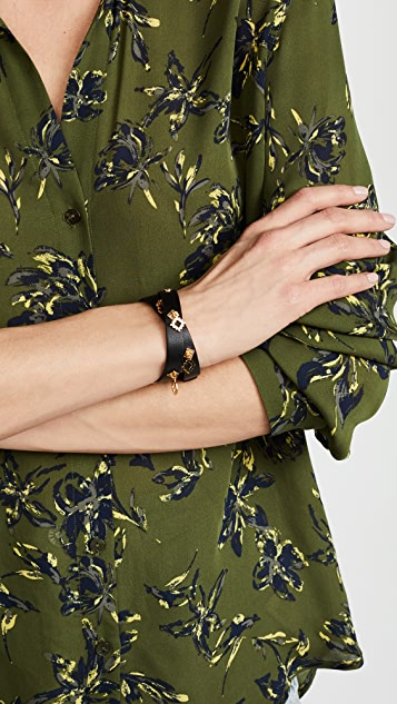 Tory Burch Geo Double Wrap Bracelet
