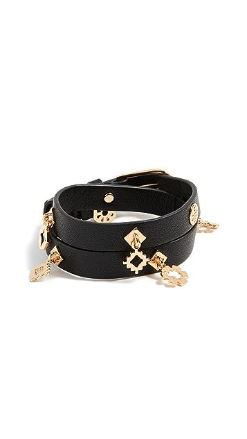 Tory Burch Geo Double Wrap Bracelet