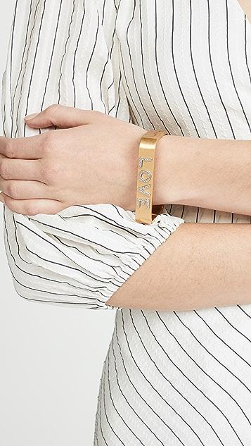 Tory Burch Love Message Bracelet