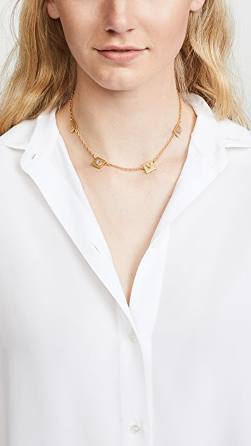 Tory Burch Love Message Delicate Necklace