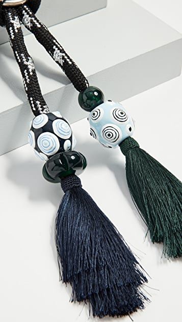 Tory Burch Tassel Statement Necklace