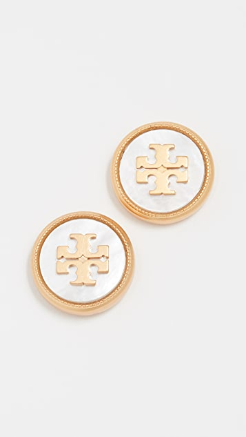 Tory Burch Semi Precious Stud Earrings