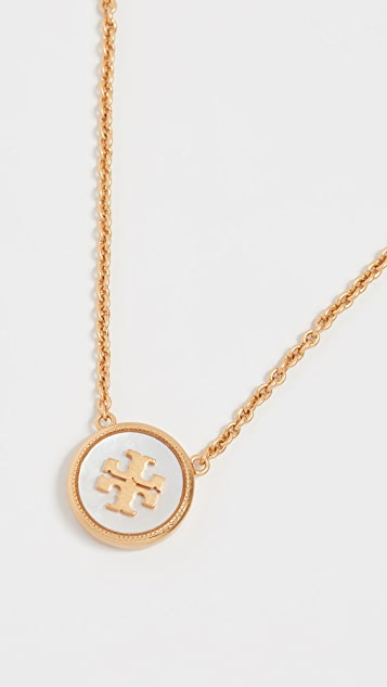 Tory Burch Semi Precious Pendant Necklace