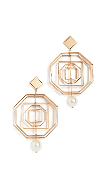 Tory Burch Geo Statement Earrings