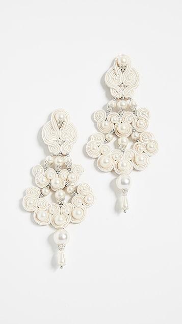 Tory Burch Beaded Chandelier Earrings