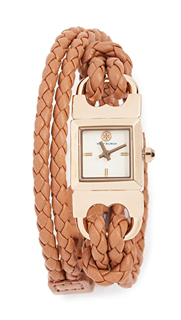 Tory Burch Double T Link Watch, 18mm
