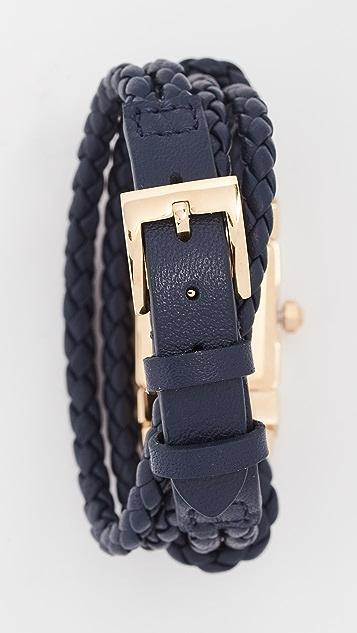 Tory Burch Double T Link Watch, 18mm