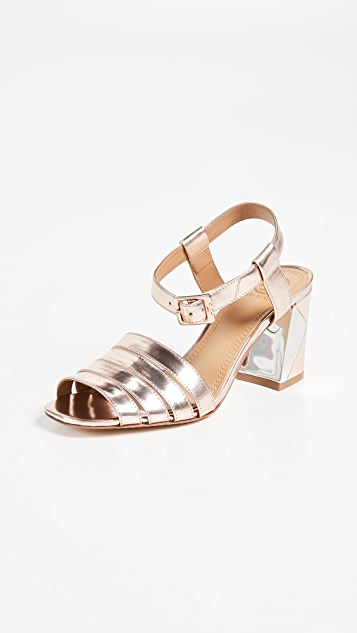 Tory Burch Bellman 75mm Metallic Sandals