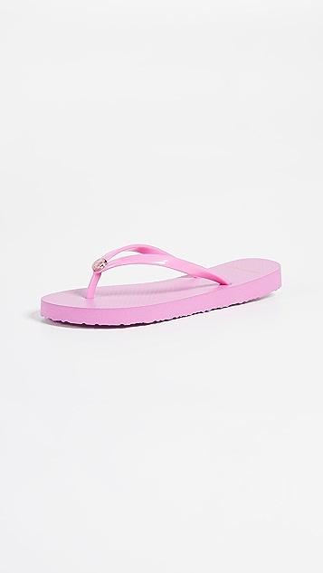 Tory Burch Solid Flip Flops