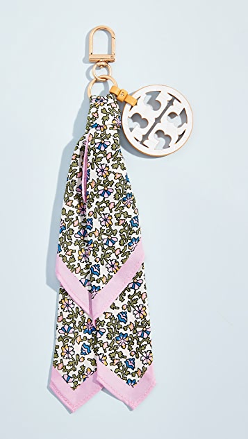 Tory Burch Printed Scarf Key Fob