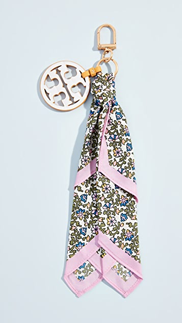Printed Scarf Key Fob by Tory Burch