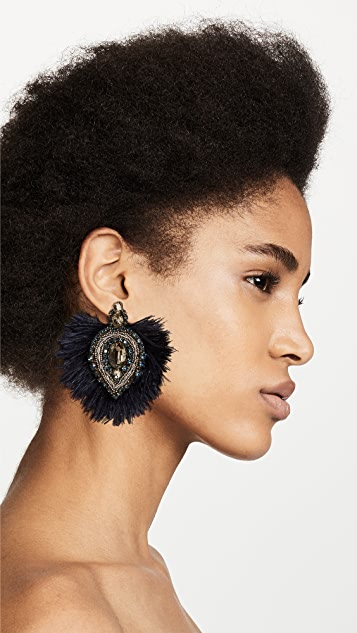 Tory Burch Embellished Feather Earrings