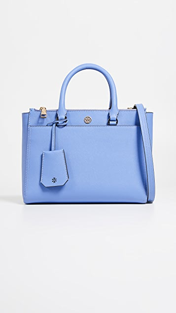 Tory Burch Robinson Small Double Zip Tote Bag