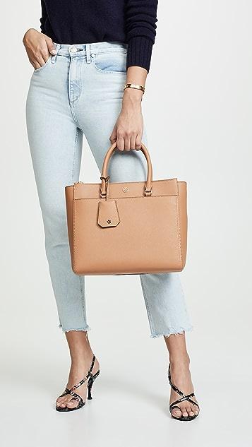Tory Burch Robinson Double Zip Tote Bag