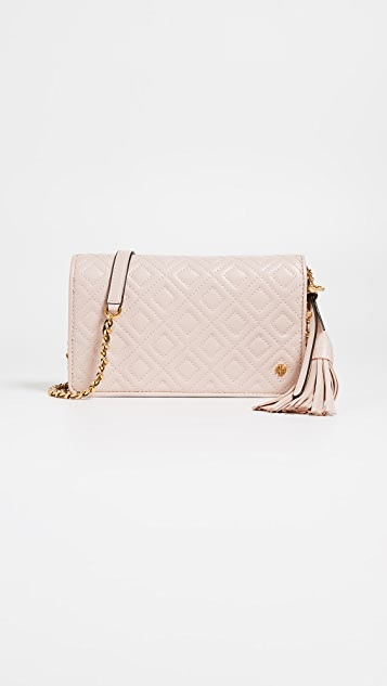 Tory Burch Fleming Flat Wallet Cross Body Bag