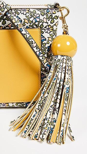 Tory Burch Colorblock Tassel Cross Body Bag