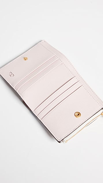 Tory Burch Robinson Floral Mini Wallet