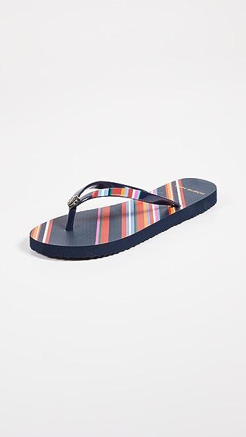 Tory Burch Printed Thin Flip Flops