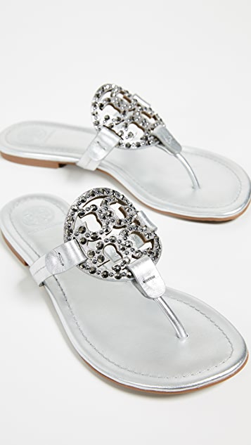 8266e93a6 Tory Burch Miller Embellished Sandals ...