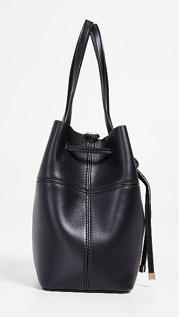 Tory Burch Block T Small Bucket Bag
