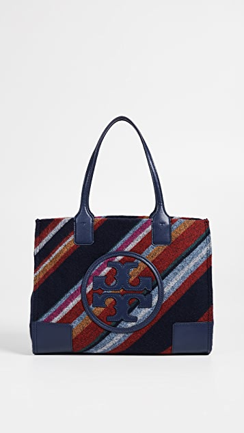 Tory Burch Ella Striped Wool Mini Tote