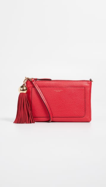 Tory Burch Leather Tassel Crossbody Bag
