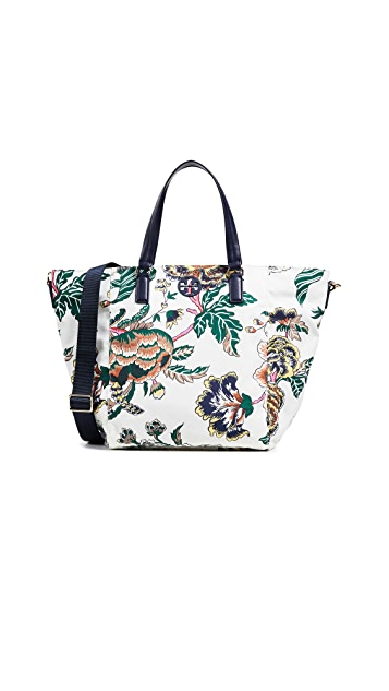 Tory Burch Tilda Printed Nylon Small Tote
